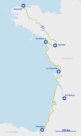 Itinéraire EuroVelo 1_Carte EV1