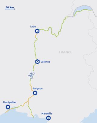 Carte EuroVelo 17 en France