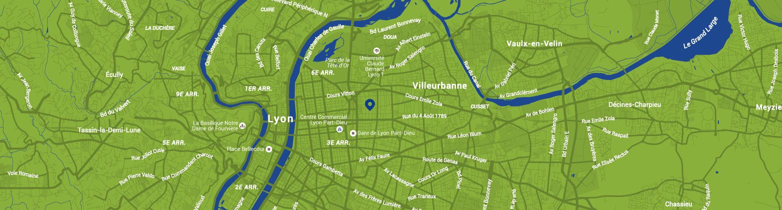Départements et régions cyclables - Localisation contact