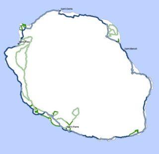 Carte du schéma régional véloroutes et voies vertes de la Réunion
