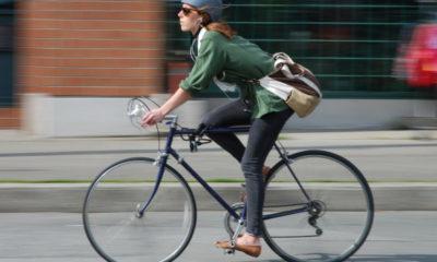à vélo au travail