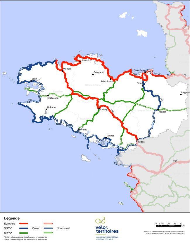 Carte Bretagne Velo.Bretagne Velo Territoires