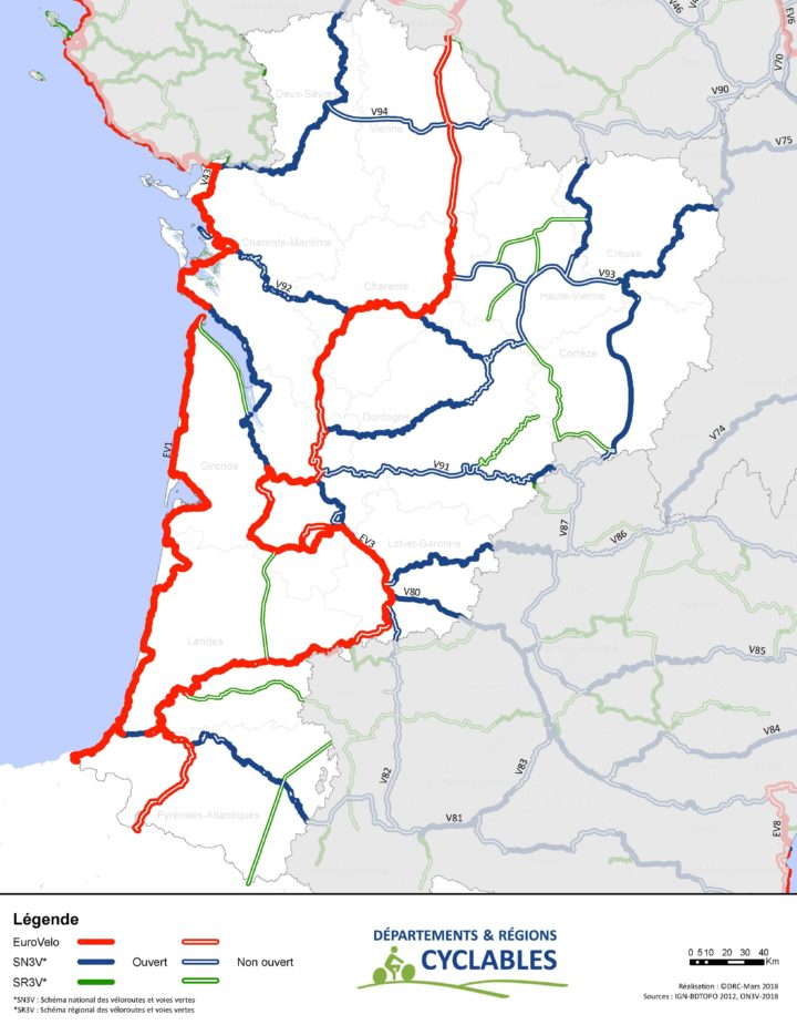 Schéma régional des véloroutes et voies vertes de Nouvelle Aquitaine