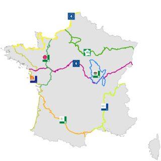 Itinéraires étudiés dans le rapport 2017
