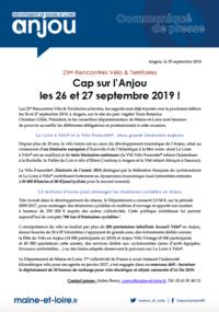 Communiqué de presse Anjou