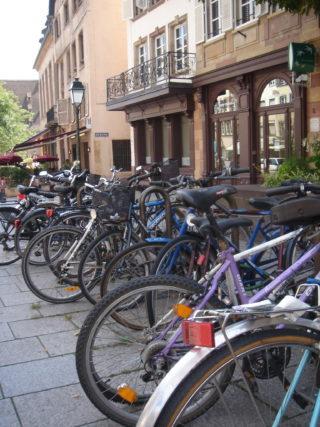 Strasbourg - vélos garés 1