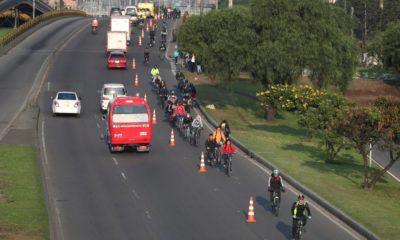 Aménagement cyclable provisoire à Bogota