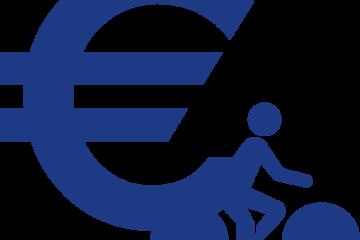 Financement vélo bleu détouré