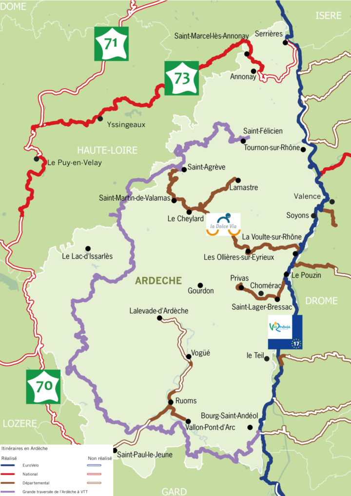 Carte Ardèche