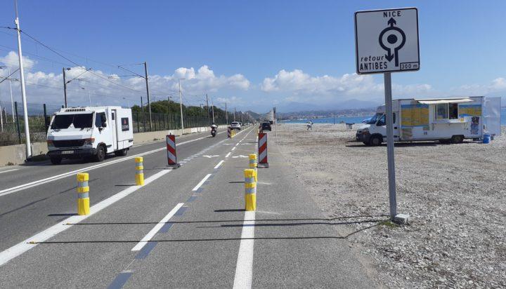 Aménagement cyclable de transition entre Villeneuve-Loubet et Antibes ©Département des Alpes-Maritimes