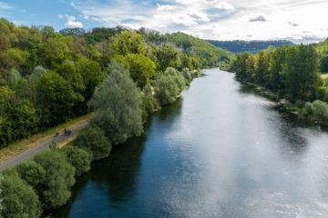 La Voie EuroVelo6 le long du Canal Rhone au Rhin dans le Doubs