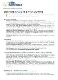 Actions et orientations