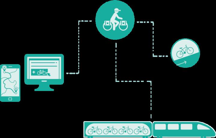 illustration touriste à véloFichier 7