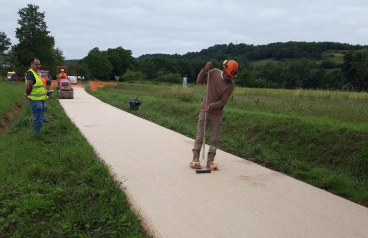 1_Travaux réalisés sur la Voie verte Canal du Midi Montségur_©Département de l'Aude