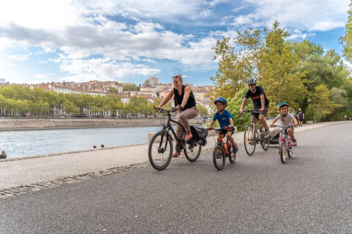 ViaRhôna à Lyon sur les berges du Rhône