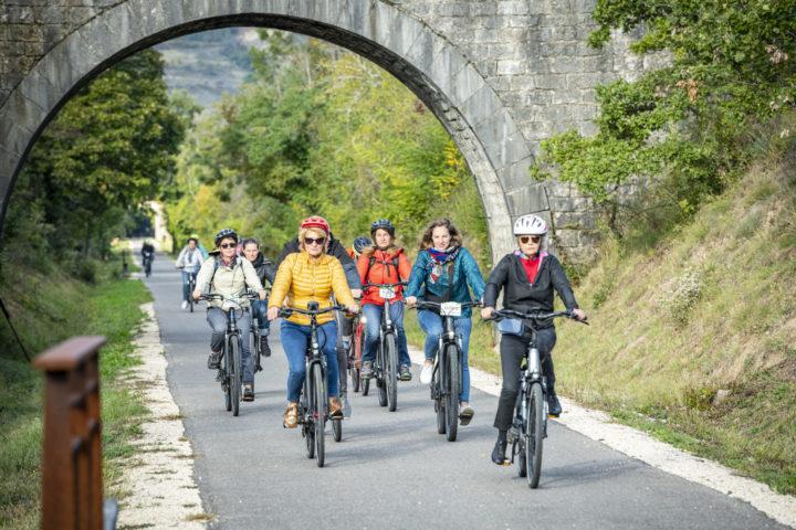Vélo & Territoires - Voie douce de La Payre, le 8 octobre 2021.